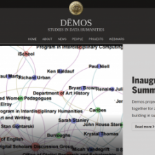 Demos Project for the Study of Data Humanities